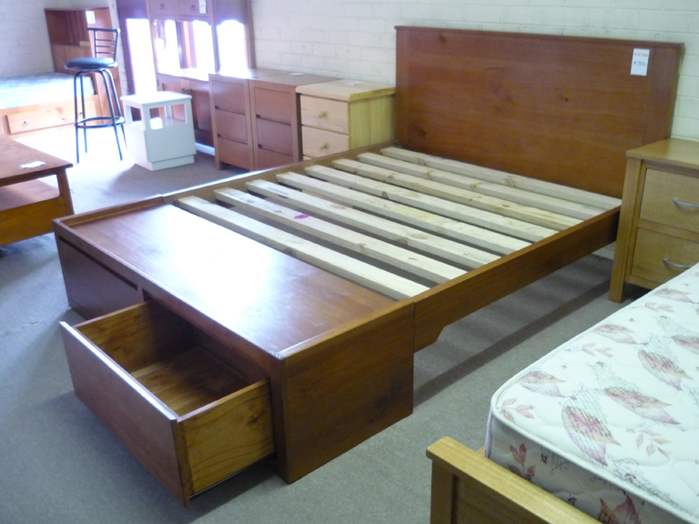 Storage Queen Size Bed