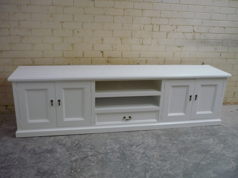 White TV Units Granville Timber Furniture Custom Made