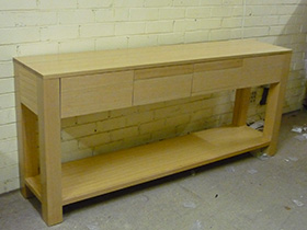 Tassie Oak Hall Table