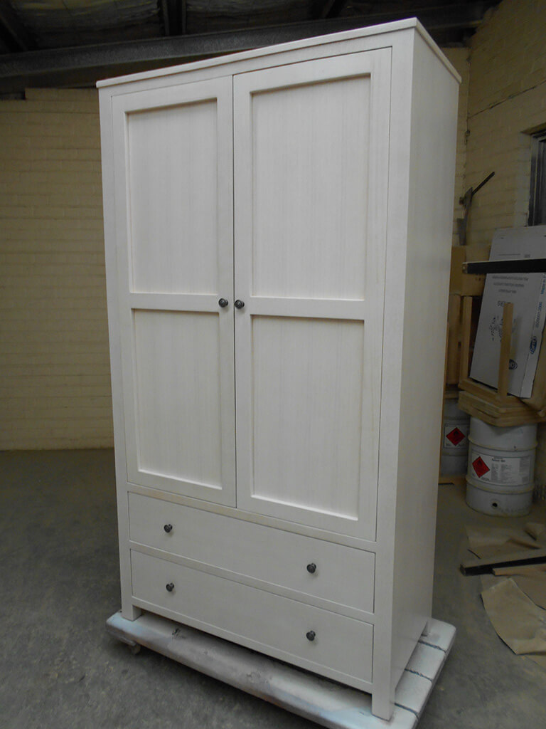 White Wash Wardrobe